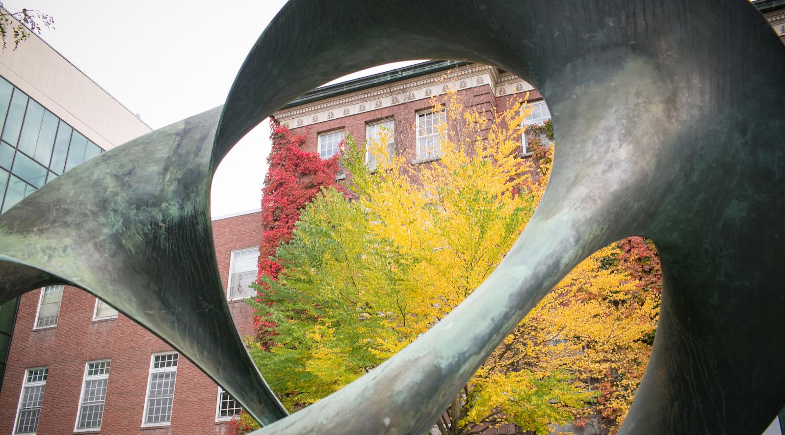 Sculpture near Wilder Hall