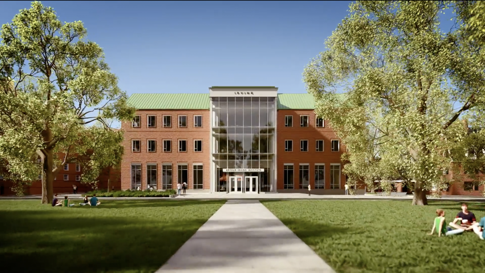 Rendering of the new Irving Institute building