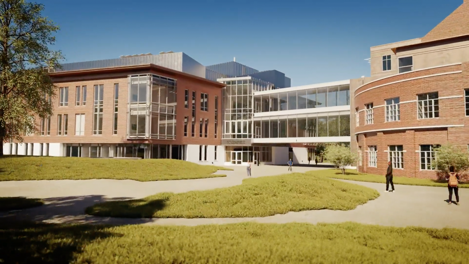 Rendering of the outside of the Center for Engineering and Computer Science