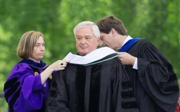 Louis Gerstner at Commencement