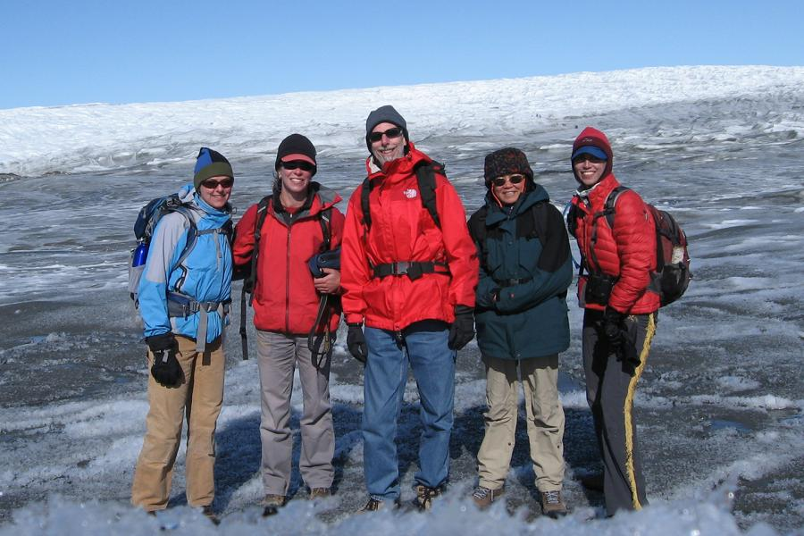 Students and faculty in the Arctic.